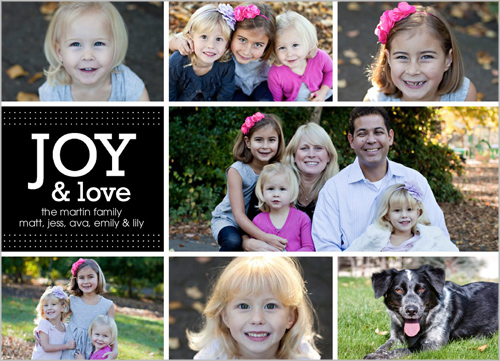 Shutterfly Joy Love Story Holiday 5x7 photo card